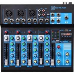 Mixer Q5 mk2 5 canali con Usb/bluetooth/mp3 player OQAN