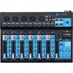 Mixer Q7 mk2 7 canali con Usb/bluetooth/mp3 player OQAN