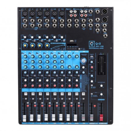 Mixer Q12 mk2 12 canali con Usb/bluetooth/mp3 player OQAN