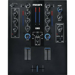 Mixer 2 canali con filtri e XLR e uscita Booth Mixars UNO