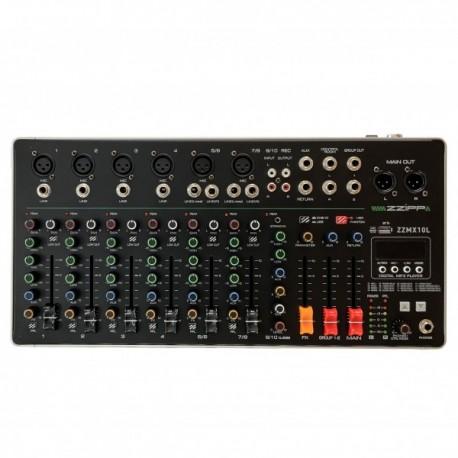 MIXER ZZMX10L 10 CANALI CON LETTORE MP3, DSP EFFETTI E BLUETOOTH