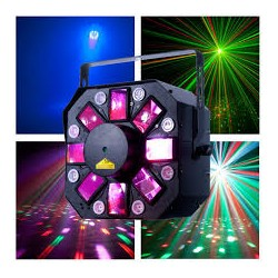 Effetto Luce Stinger II ADJ Led Moonflower UV Led Laser 3 in 1